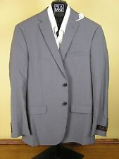 $650 New Jos A Bank JOSEPH solid grey suit 40 L 34 W Slim fit