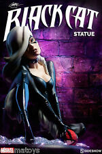 Marvel Black Cat Polystone Statue Sideshow Comiquette Campbell Spider-Man