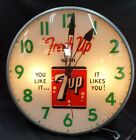 Vintage Pam Fresh Up with 7 UP You Like it...It Likes You  Electric Wall Clock