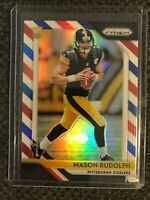 2018 Panini Prizm Red White Blue Refractor Mason Rudolph RC Steelers Rookie