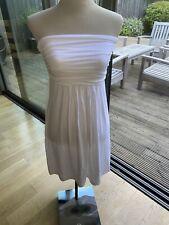 LADIES BAUKJEN PURE WHITE HELENA DRESS - SIZE 10 - BNWT