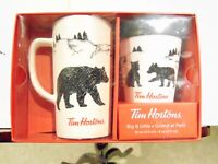 "Tim Hortons "" Big Bear & Little Bear"" 2018 Box Set 16oz Mug & 8oz Tumbler NIB"