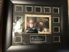 ALICE IN WONDERLAND Tim Burton MADHATTER Johnny Depp FILM CELL New