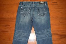 MEK DENIM ~ 'GILMORE' Straight Leg Blue Jeans - Men Size 38 x 34 - Perfect!
