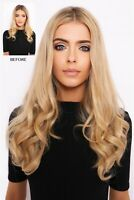 """LullaBellz Super Thick 16"""" 1 Piece Curly Clip In Synthetic Hair Extensions"""