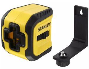 STANLEY C Line Cross Line Laser Level Redlaser 10m + Batteries + Bracket Indoor