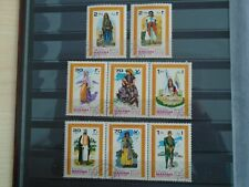 Manama. Private sale of 8 Large stamps of Costumes. Lovely lot.