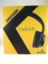 Kicker HP402BT Tabor Black Over-The-Ear Wireless Bluetooth Headphones #HP402BTB