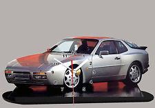 MODEL CARS, PORSCHE 944 -03, car passenger,11,8x 7,8 inches  with Clock