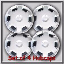"4 15"" Silver hubcaps Fits 2007-2008 Nissan Versa Hub caps, Versa Wheel Covers"