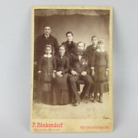 VTG Antique Studio Photo Cabinet Card Family Ronkendorf Neubrandenburg Germany