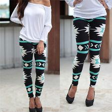 Women Slim Stretchy Print Leggings Casual Skinny Leggings Pencil Pants Trousers