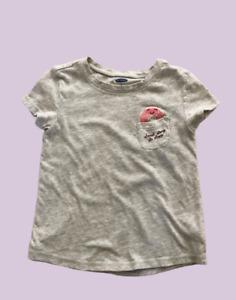 Girls Old Navy Heather Gray Kids T-shirt 5T