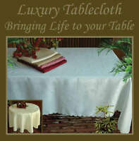 127 x 178 cm DAMASK LUXURY TABLE CLOTH in 5 colours