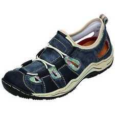 Rieker Leandra L0561 Slipper Halbschuhe Sandale  blau rot multi Gr.37- 43 NEU