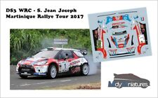 Décals 1/43ème S. J. Joseph - Citroën DS3 WRC - Martinique Rallye Tour  2017