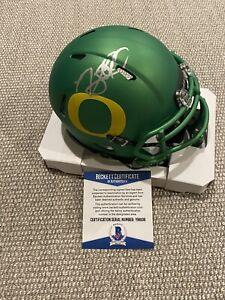 BECKETT COA! NOAH SEWELL Signed Autographed Oregon Ducks Football Mini Helmet