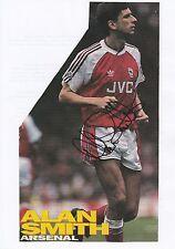 Alan Smith Arsenal 1987-1995 revista original firmada a mano de corte