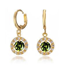 18K Gold Filled Created Ruby Emerald Amethyst Dangle Earrings USGM188GRE1