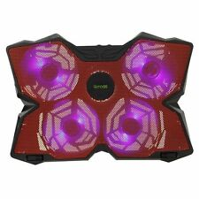 iKross Gaming Laptop Cooler Cooling Pad w/ 4x Wide 140mm 1200RPM Blue LED Fans
