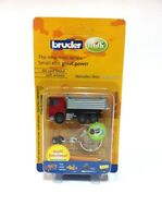 New Bruder mini- multi functional 1:128 mercedes-benz actros Truck keychain-rare