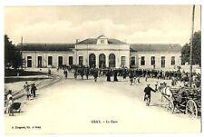CPA 70 Haute-Saône Gray la Gare charette animé