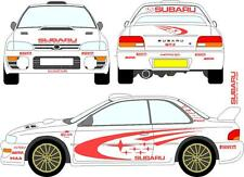 subaru impreza wrc vinyl decal/sticker kit, in any colour, full set