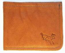 Brown LEATHER Buckskin Whitetail Bi Fold Wallet hand crafted by disabled vet 549