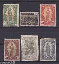 es - CONGO FRANCAIS 1900/04, joli lot 6 valeurs neuves* et oblitérées