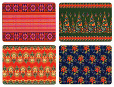 NEW Set of 4 Dining Table Placemats and Coasters Egyptian Textiles Design