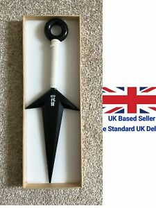 UK Seller Naruto Cosplay Kunai Replica Weapons Toy White 28cm Comic Con Safe