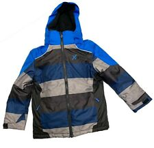 Xmtn Boys Winter 2 Pc Snow Suit Blue/Black/Grey Stripes