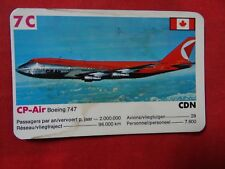 CP AIR CANADA BOEING 747   AIRLINES AIRWAYS   playing card  vintage one card