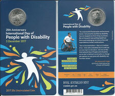 2017 '25th Anniversary International Day of People with Disability' 20c Coin