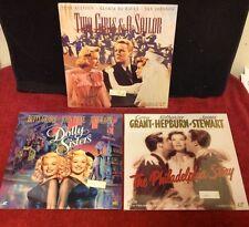 Lot Vintage Laserdisc Philadelphia Story Dolly Sisters 2 Girls & A Sailor SEALED