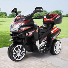 Kids 3 Wheel Electric Motorcycle 6V Bike  Battery Powered Ride On Toy New Black
