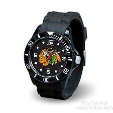 Chicago Blackhawks Spirit Watch Team Color Logo Black Band NHL Hockey