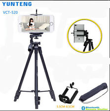 YUNTENG VCT-520 Portable Camera VCR Tripod + Damping Head & Bag + Phone clip