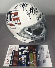 Jimbo Fisher & Kellen Mond SIGNED Texas A&M Aggies Football Mini Helmet JSA COA