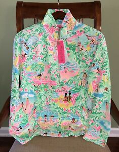 Lilly Pulitzer XL Lets Get Together SKIPPER POPOVER Round Hem Pullover UPF50 NWT