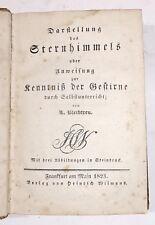 Bleibtreu, Leopold.  Darstellung des Sternhimmels 1823 mit 3 Sternenbilder
