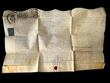 1764 ANTIQUE PARCHMENT  - John Clarke and James Morfee