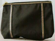 "NEW Brwn & Bronze COSMETIC Bag by ESTEE LAUDER 6.5"" h x 8.5"" w x 2"" d Zip w.LOGO"