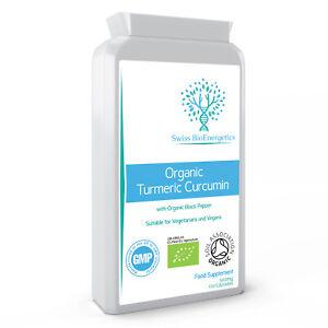 Organic Turmeric Curcumin 500mg - 120 Capsules with Organic Black Pepper