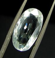 7.70 Ct Certified Natural White Zircon Loose Oval Gemstone Stone Tanzania 133270