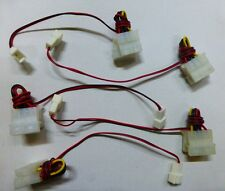 "2 x  Molex 4Pin Female to Male and 3Pin 12V Male Fan Plug ""Y"" Type Converter"