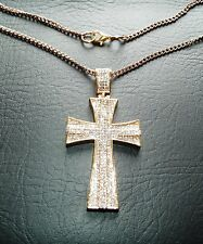 Elvis Style Crystal cross Pendant
