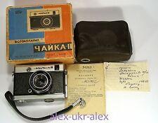 Russian Chaika II with Industar-69 lens 18x24 mm film camera w/box and passport
