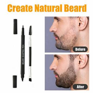Waterproof Beard Filler Pen Beard Fast Camouflage Natural Beard Pencil + Brush*