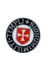 patch iron embroidered crusader knights templar cross army chrisitan religious